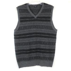 J Crew Nordic Wool V-Neck Sweater Vest L